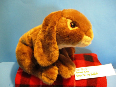 Animal Alley Brown and Tan Lop Bunny Rabbit beanbag plush(310-3662-1)