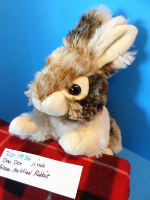 Dan Dee Brown and White Mottled Bunny/Rabbit plush(310-1936)