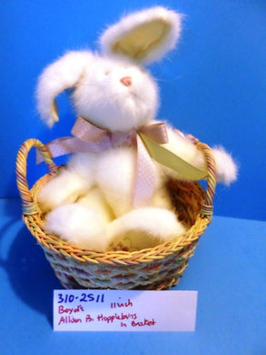 Boyd's Bears White Bunny Rabbit Allison B. Hopplebuns in a Basket Plush