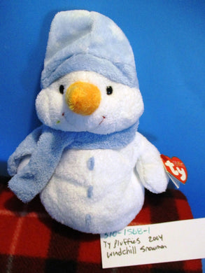 Ty Pluffies Windchill the Snowman 2004 plush(310-1568-1)