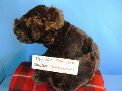 Dan Dee Collector's Choice Dark Brown Bear beanbag plush(310-107)