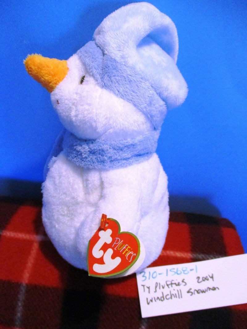 Ty Pluffies Windchill the Snowman 2004 Beanbag Plush