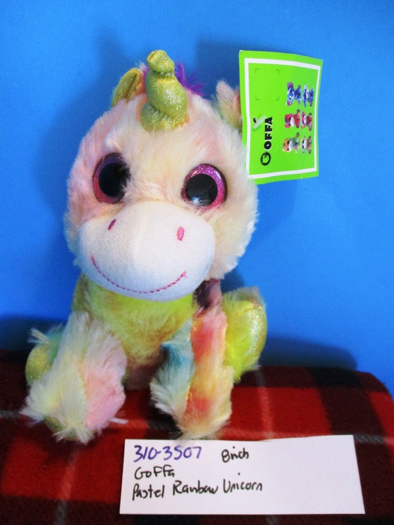 Goffa Pastel Rainbow Unicorn Plush