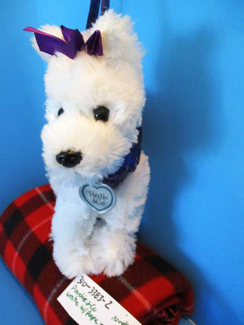 Poochie and Co. Westie Purple Sequins Plush Bag Purse