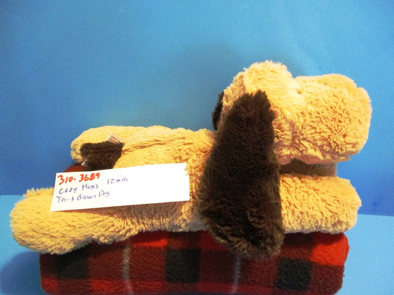 Cozy Hugs Tan and Brown Dog Warming Aromatherapy Plush