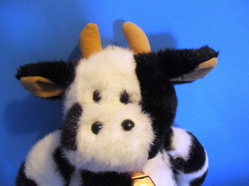 Build-A-Bear Holstein Cow With Bell 1997 Beanbag Plush