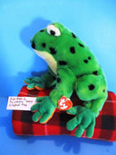 Ty Classic Lilypad the Green Frog 2004 Beanbag Plush