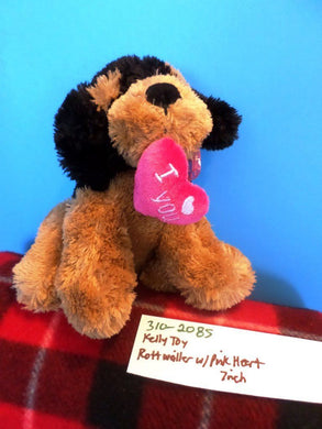 Kelly Toy Rottweiler with Pink Heart plush(310-2085)