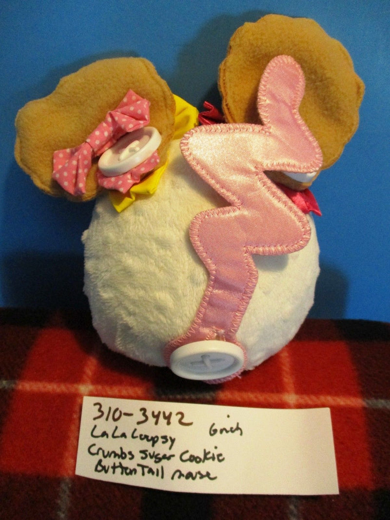 MGA LaLaLoopsy White Crumbs Sugar Cookie Button Tail Mouse Plush