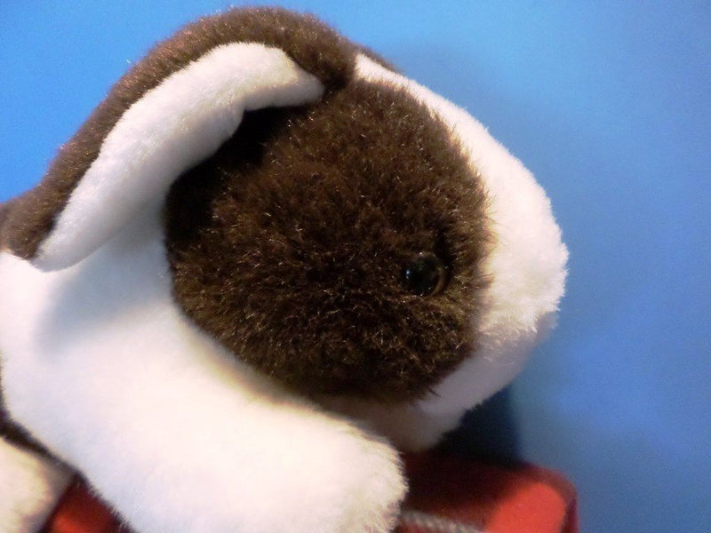 Brown and White Dutch Bunny Rabbit Plush
