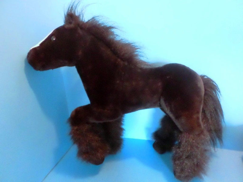 E & J Classics Black Horse with White Blaze Plush