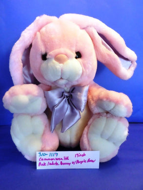 Commonwealth Pink and White Bunny/Rabbit with Purple Bow