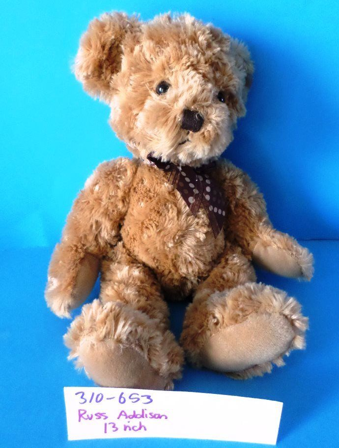 Russ Addison Tan Teddy Bear Beanbag Plush