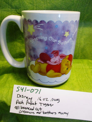 Disney 16 oz. Purple White Mug Cup with Pooh Piglet Tigger(541-071)