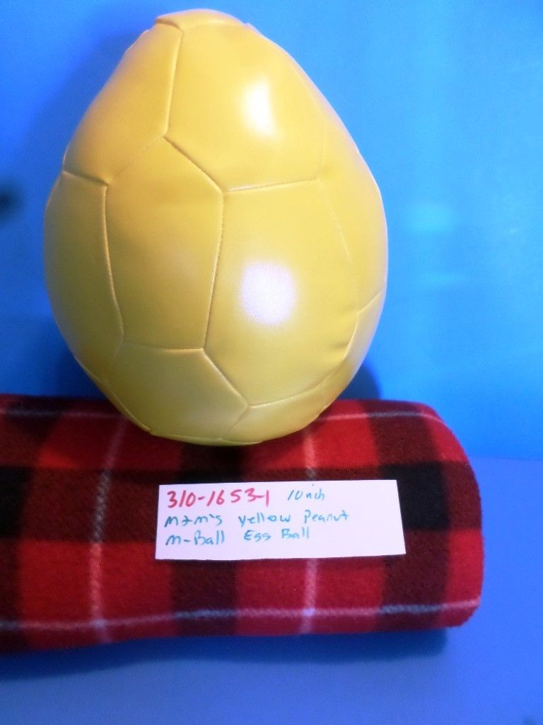 M&M Original M Ball Yellow Peanut Shaped Soccer Ball Plush