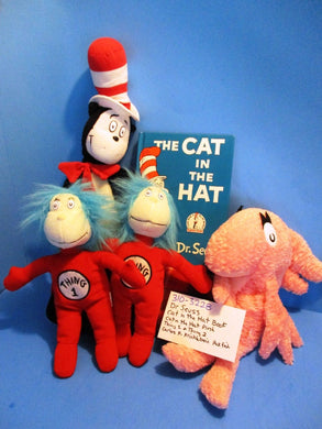 Dr. Seuss Cat in the Hat plushes and Book(310-3228-1)