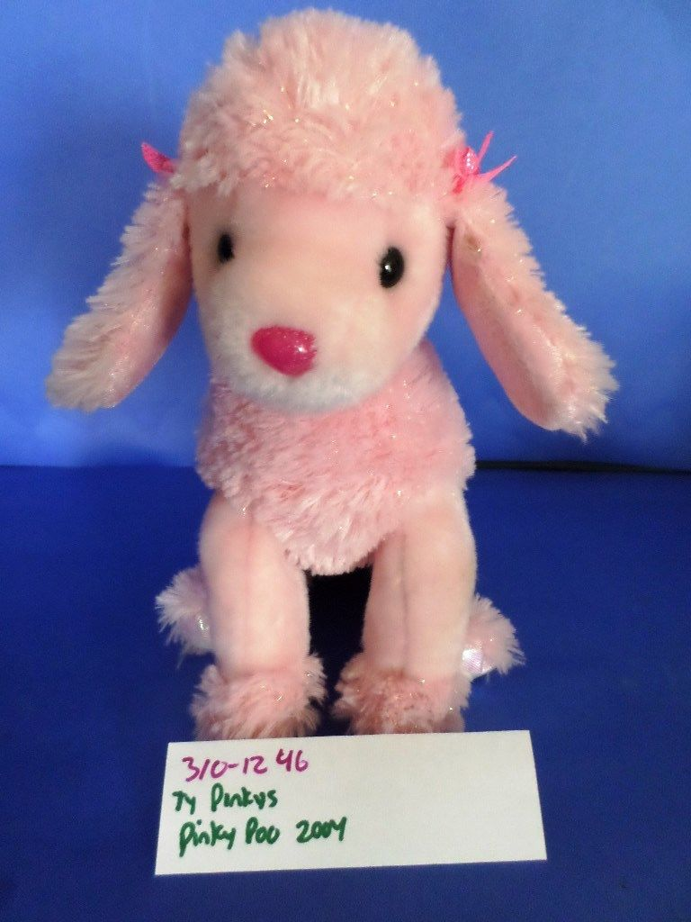 Ty Pinkys Pinky Poo the Pink Poodle 2004 Beanbag Plush