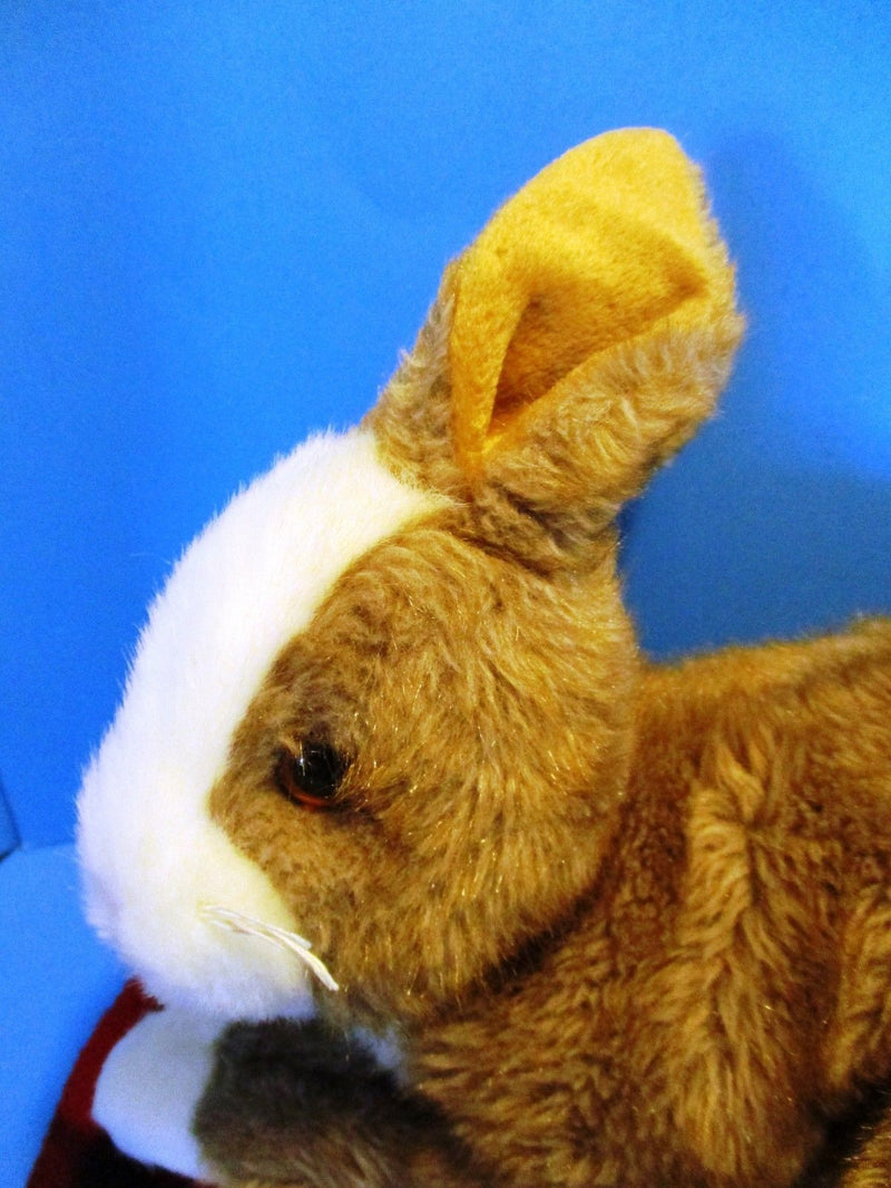 Ty Classic Thimbles Brown and White Bunny Rabbit 2002 Beanbag Plush