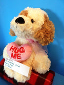 Best Made Toys Hug Me Heart Beige and Brown Puppy Plush