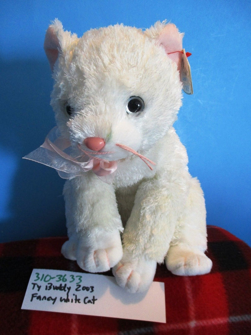 Ty Beanie Buddy Fancy White Cat Beanbag 2003 Beanbag Plush