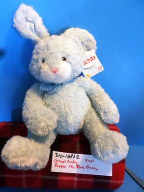 Gund Carter's Popper the Blue Bunny Rabbit My First Easter Plush