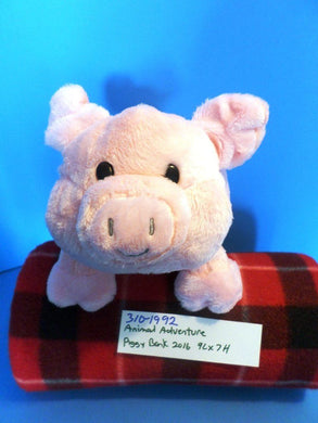 Animal Adventure Pink Piggy Bank 2016 Plush