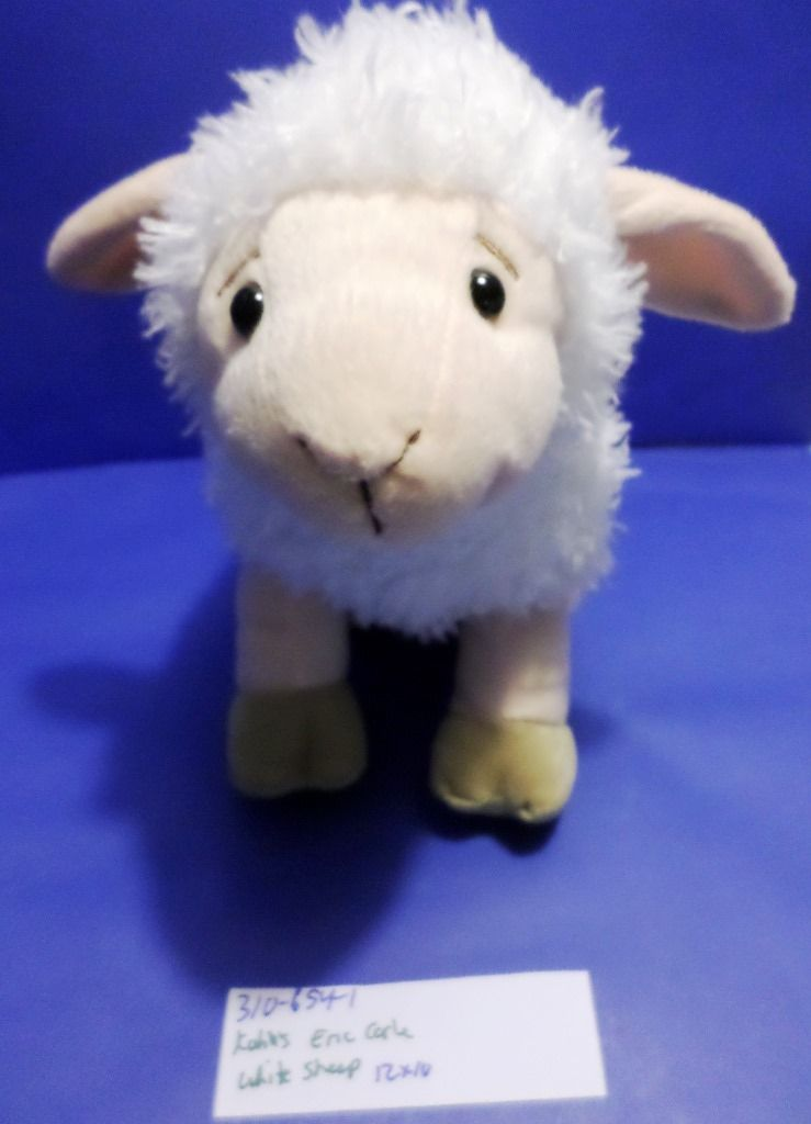 Kohl's Cares Eric Carle The Lamb And The Butterfly White Sheep 2012 Plush
