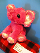 Aurora Dreamy Eyes Pink Elephant Beanbag Plush