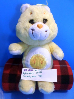 Kenner Care Bears Funshine Bear 1983 plush(310-2612)