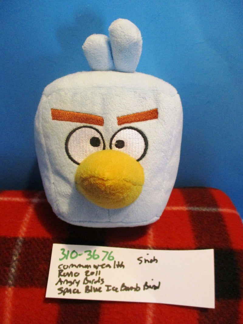 Commonwealth Rovio Angry Birds Space Blue Square Ice Bomb Bird 2011 Plush