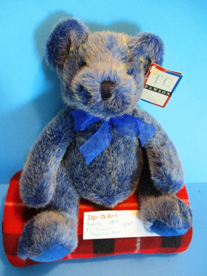 Fiesta T. C. Dawson Ruby and Sapphire Teddy Bear 1999 beanbag plush(310-2620-1)