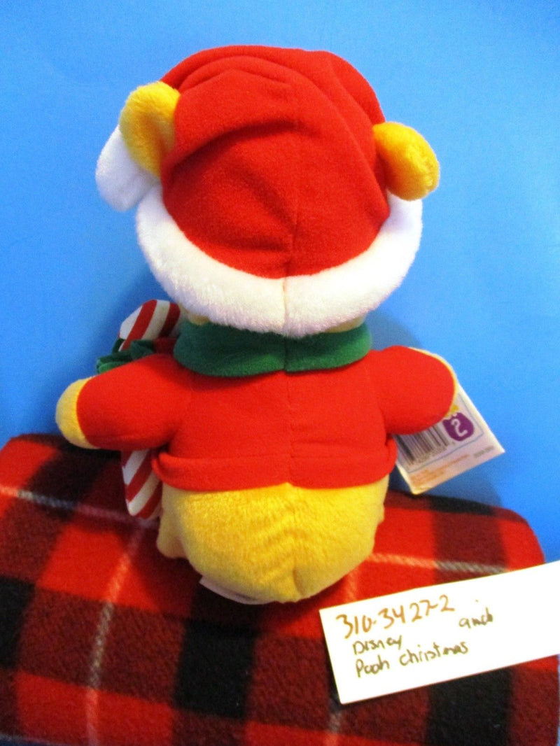 Mattel Disney Christmas Pooh With Candy Cane 1998 Plush