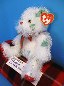 Ty Punkies Lil Santa Claws White and Green Bear 2005 Beanbag Plush