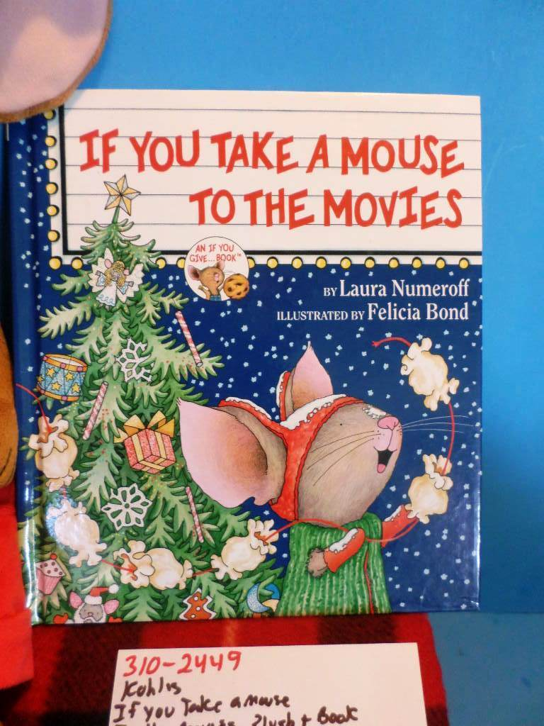 Kohl's Cares If You Give Take A Mouse To The Movies Plush and Book