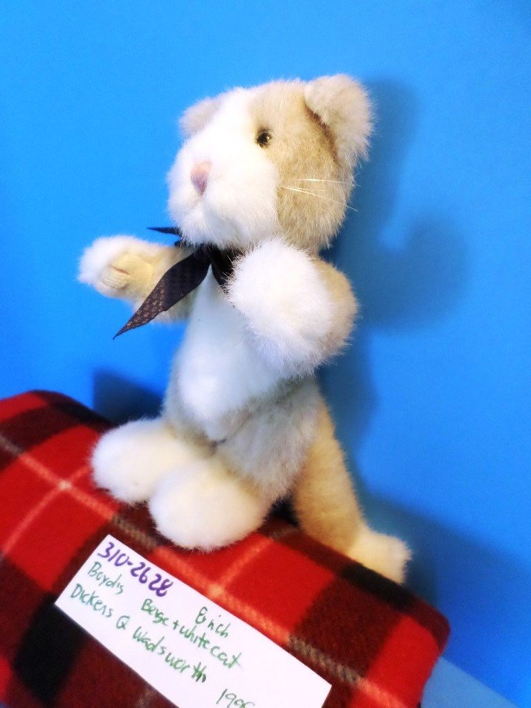 Boyd's Bears Emerson T. Penworthy the Beige and White Cat 1999 Plush