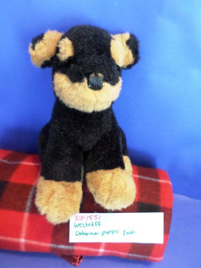 Westcliff Doberman Puppy Dog Plush
