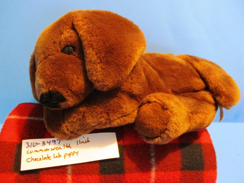 Commonwealth Chocolate Lab Brown Dog 2001 Beanbag Plush