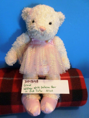 Gund Whitney the White Ballerina Bear in a Pink Tutu plush(310-2648)