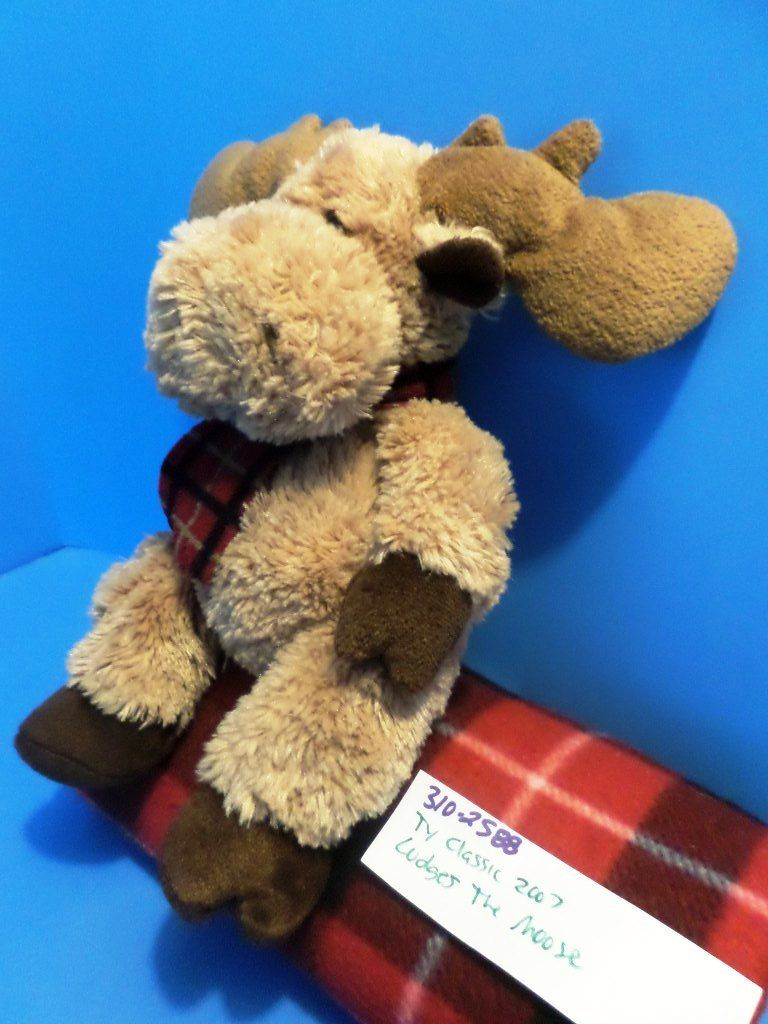 Ty Classic Lodges the Brown Moose 2007 Beanbag Plush