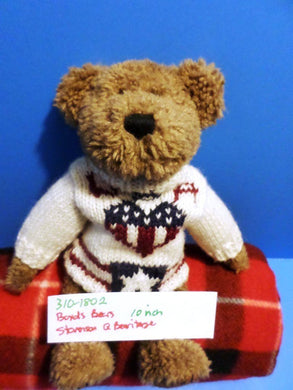 Boyd's Bears Stevenson Q. Bearitage Brown Teddy Bear in Patriot Sweater Plush