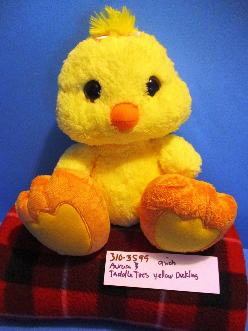 Aurora Taddle Toes Flapper Yellow Duck Beanbag Plush