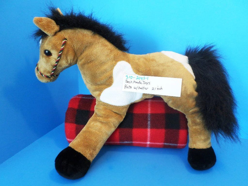 Best Made Toys Brown and White Pinto Paint Horse Pony Plush