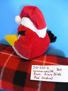 Commonwealth Rovio Angry Birds Christmas Red the Cardinal 2011 Plush