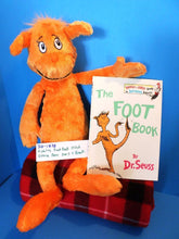 Kohl's Dr Seuss's Orange Bear 2005 plush and The Foot Book(310-1838)