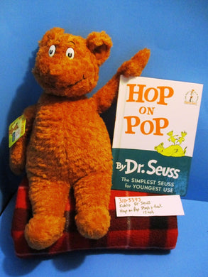 Kohl's Dr Seuss Hop on Pop Brown Bear plush and book(310-3393)