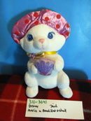 Disney Aristocats Marie in a Beach Hat Holding a Shell Plush
