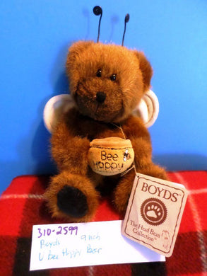 Boyd's Bears U Bee Happy Brown Bear 2003 Beanbag Plush