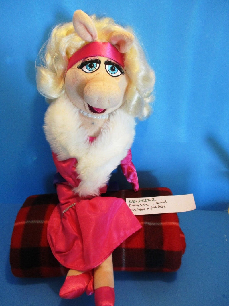 Disney Store Miss Piggy in Pink Dress Plush