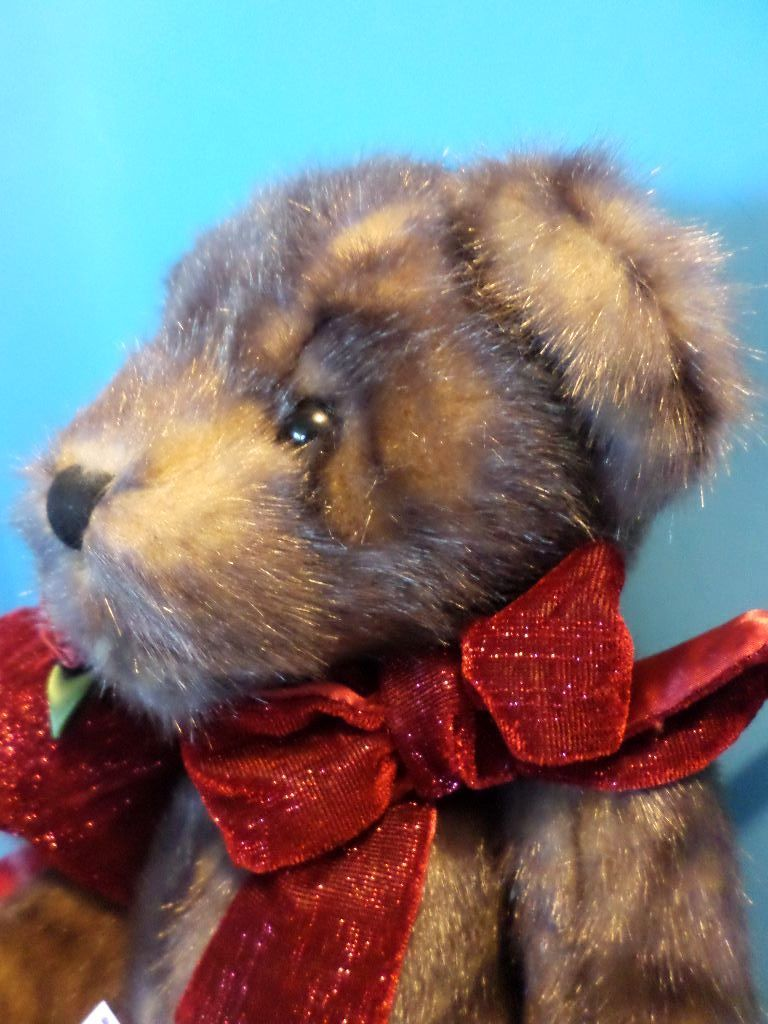 Dan Dee Brown Teddy Bear with Red Heart Pillow Plush
