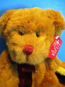 Russ Garland Gold Tinsel Teddy Bear Beanbag Plush
